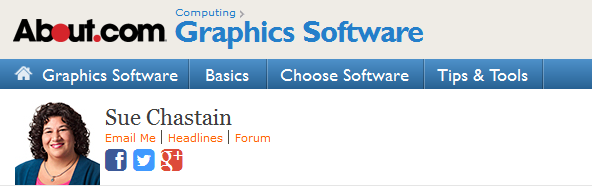Sue Chastain on About.com Graphics Software